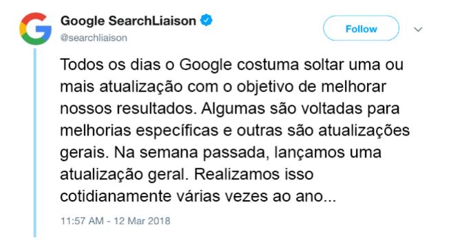 declaração google
